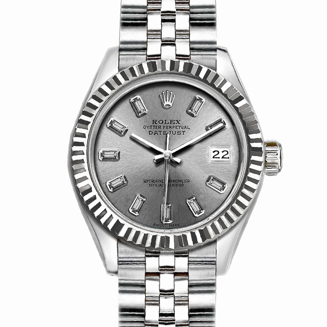 "Image of ""Rolex Datejust Stainless Steel with Silver Dial 36mm Mens Watch"""