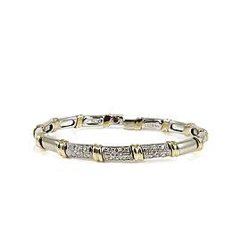 Robert Coin 18K White Gold & 18K Yellow Gold 0.48ct Diamond Nabucco Bracelet