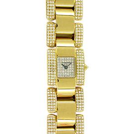 Chaumet Diamond Champs-Elysées 18K Yellow Gold Watch