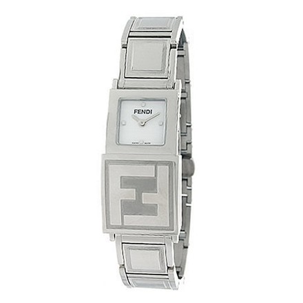 "Image of ""Fendi 5500L Stainless Steel White & Black Dial 18mm Womens Watch"""