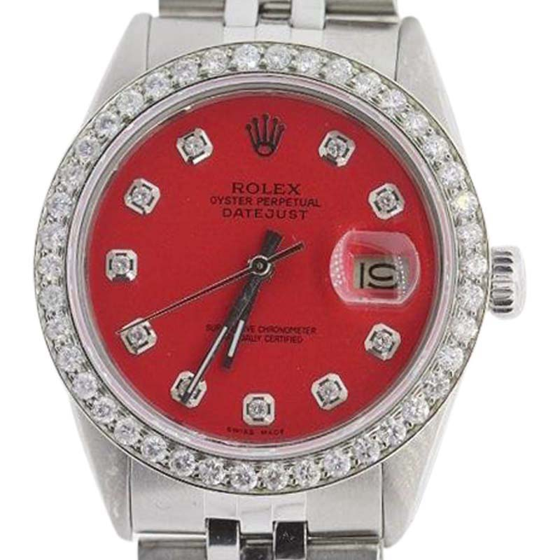 "Image of ""Rolex Datejust Stainless Steel & Diamond 36mm Watch"""