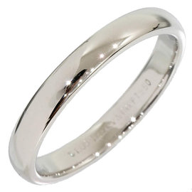 Tiffany & Co. Platinum Simple Band Ring Size 6.75