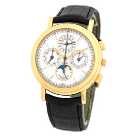 Vacheron Constantin Perpetual Calendar Chronograph 18K Yellow Gold Mens Watch