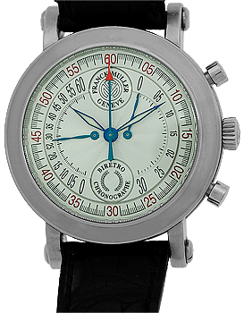 "Image of ""Franck Muller BiRetro Chronograph Stainless Steel Mens Watch"""