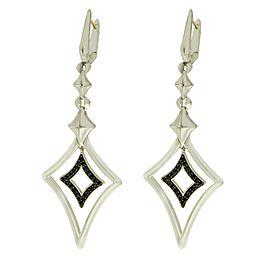 Stephen Webster 925 Sterling Silver & 14K Gold Sapphire Drop Earrings