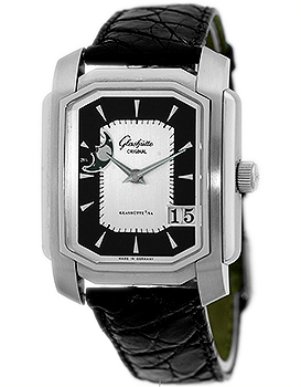 "Image of ""Glashütte Original Karree Art Deco Panorama Date Stainless Steel"""
