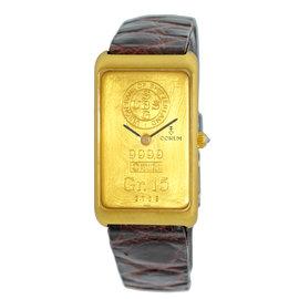 Corum Ingot 999.9 Yellow Gold Strap Mens Watch