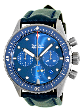 "Image of ""Blancpain Fifty Fathoms Bathyscaphe Flyback Ocean Commitment"""
