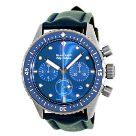 Blancpain Fifty Fathoms Bathyscaphe Flyback Ocean Commitment Chronograph Blue 43.6mm Ceramic Watch