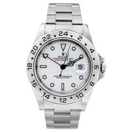 Rolex Explorer II 16570 White Mens Watch