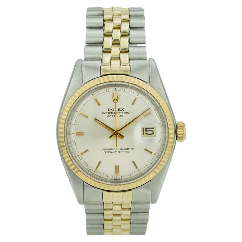 """Image of """"Rolex Datejust 1601 Stainless Steel & 18K Yellow Gold White Dial 36mm"""""""
