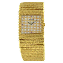 Piaget Classique 18K Yellow Gold Diamond & Ruby 25mm Watch