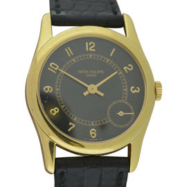 Patek Philippe 5000J Calatrava 18K Yellow Gold 35mm Mens Watch