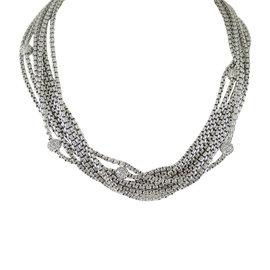 David Yurman Sterling Silver & 18K Yellow Gold 1.00ct Diamond Ball Necklace