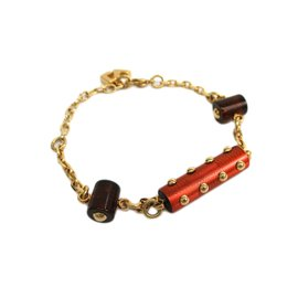 Louis Vuitton Gold Plated And Plastic Bracelet