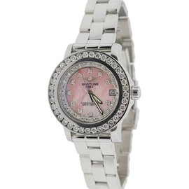 Breitling Colt Stainless Steel With 3ct Diamond Womens Watch