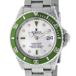 Rolex Submariner Stainless Steel Diamond & Emerald 40mm Watch