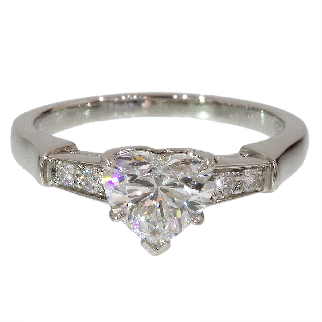 "Image of ""Harry Winston 950 Platinum & 0.90ct Diamond Ring Size 5"""