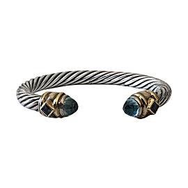 David Yurman 925 Sterling Silver & 14K Yellow Gold Topaz & Iolite Renaissance Bracelet