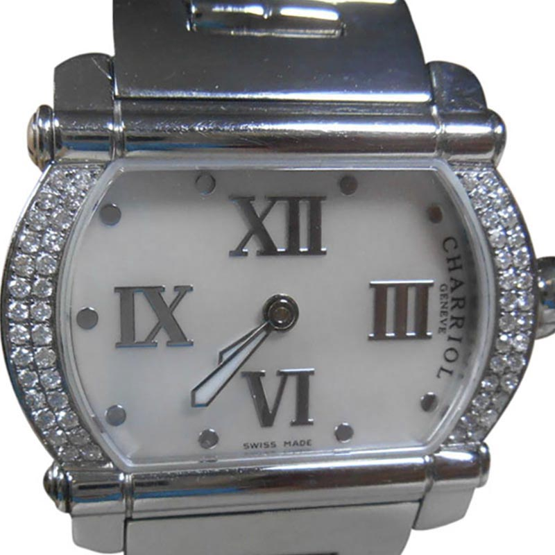 """Image of """"Charriol Actor Diamond Mother Of Pearl Dial Stainless Steel Womens"""""""