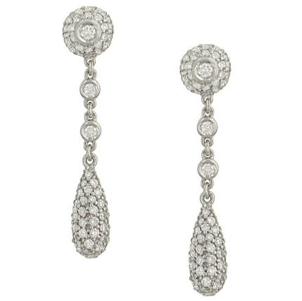 "Image of ""Simon G. 18K White Gold & 1.51ctw Diamond Drop Earrings"""