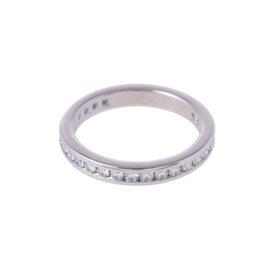 Tiffany & Co. 950 Platinum Diamond Ring Size 3.75