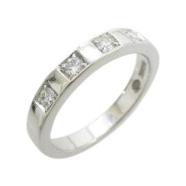 Bulgari 950 Platinum with Diamond Marimi Ring Size 4.25