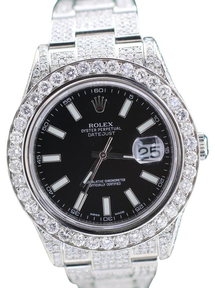 "Image of ""Rolex Datejust II 116334 Stainless Steel Black Dial with Luminous"""