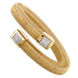 Calgaro 18K Yellow Gold and 0.50ct Diamond Bangle Bracelet