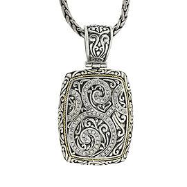 Effy Balissima Two Tone Diamond Charm Necklace