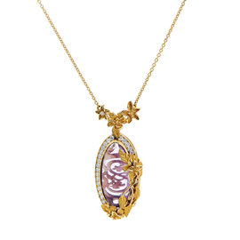 Carrera y Carrera Emperatriz Cascada Medium Gold Gemstone Pendant Necklace