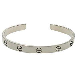 Cartier 18K White Gold Love Cuff Bracelet Size 19