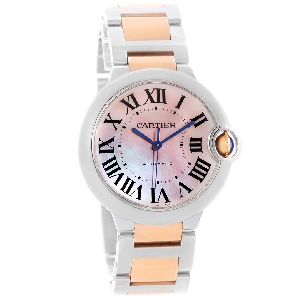 Cartier Ballon Bleu W6920070 Stainless Steel & 18K Rose Gold 33mm