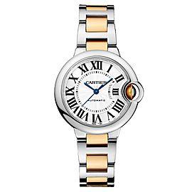 Cartier Ballon Bleu 33 18K Yellow Gold & Stainless Steel Watch on Two Tone Bracelet W2BB0002