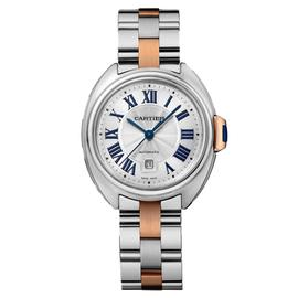 Cartier Cl_ de Cartier 18K Rose Gold & Stainless Steel Ladies Watch on Bracelet W2CL0004