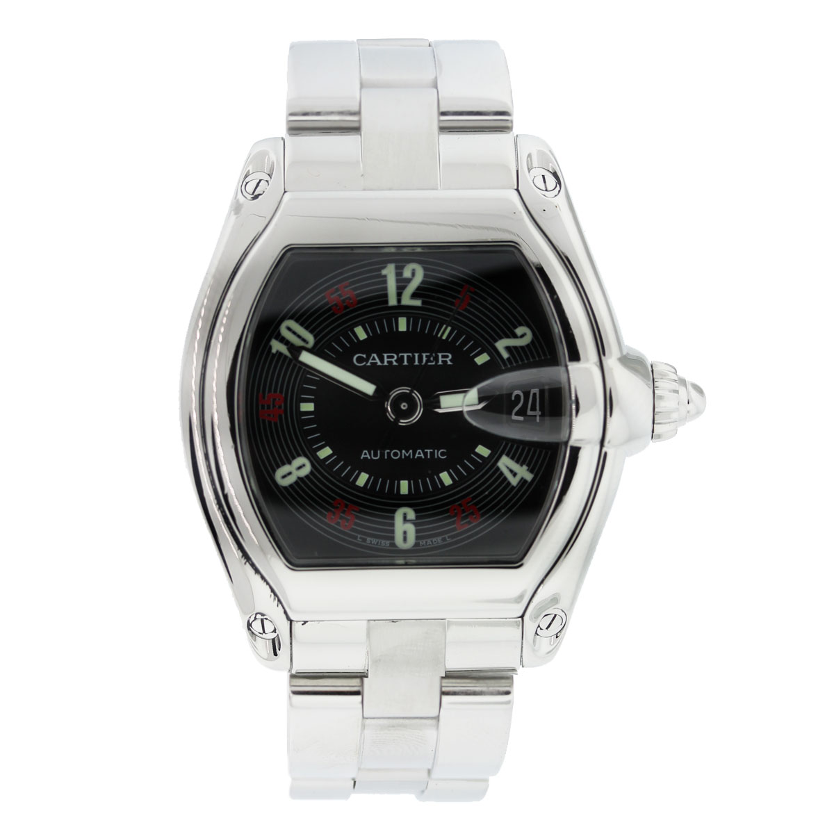"""Image of """"Cartier Roadster Stainless Steel Casino Dial Automatic 36mm Mens Watch"""""""