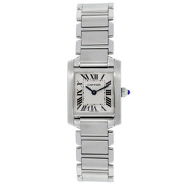 Cartier Tank Francaise Stainless Steel 20mm Womens Watch