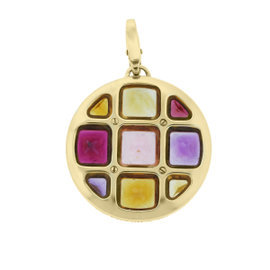 Cartier 18K Yellow Gold Pasha Multi Gemstone Pendant