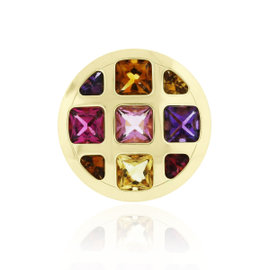 Cartier 18K Yellow Gold Multi Gemstone Ring Size 6.5
