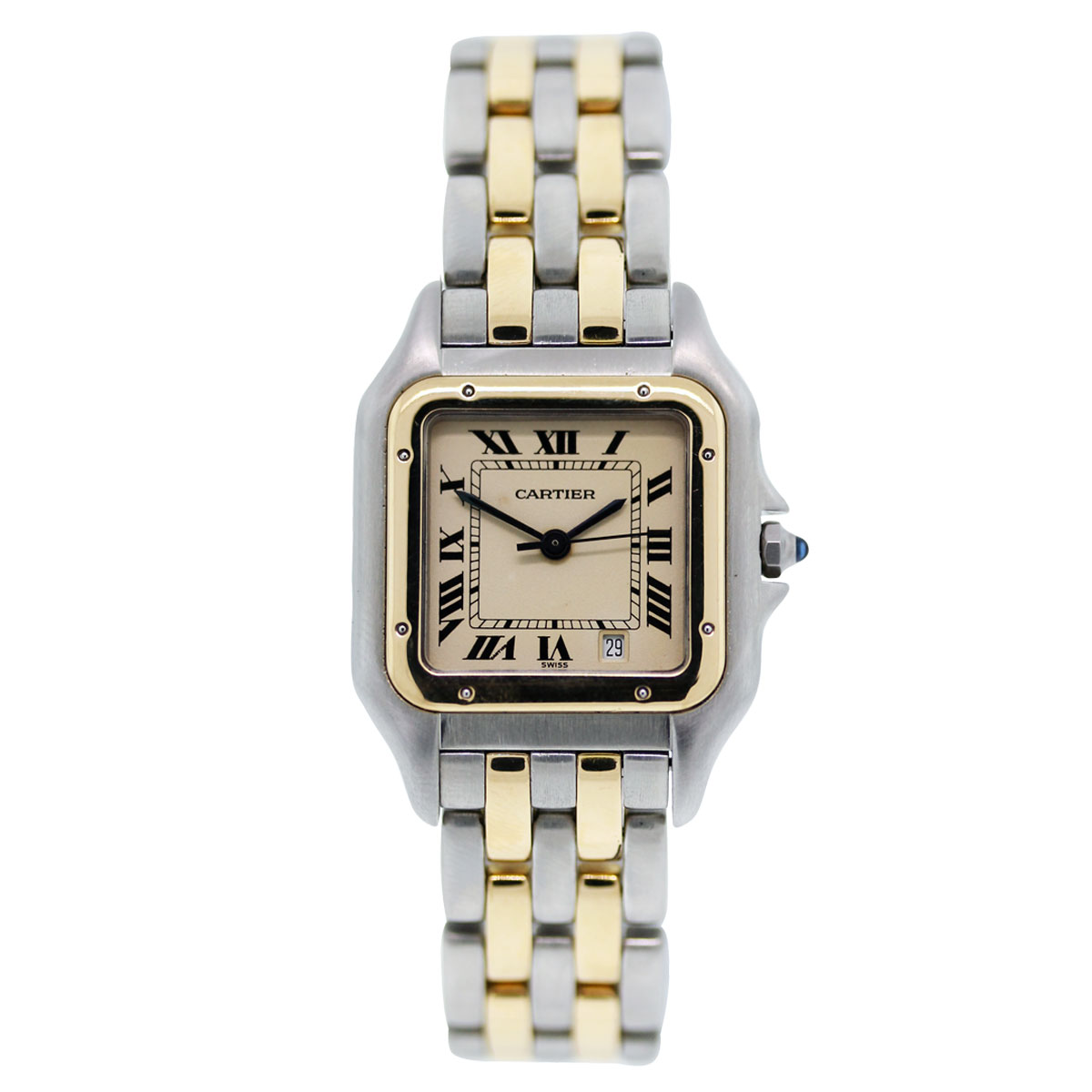 """Image of """"Cartier Panther Two Tone Stainless Steel and 18K Yellow Gold White"""""""