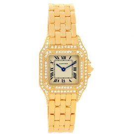 Cartier Panthere WF3072B9 18K Yellow Gold Diamonds Quartz 22mm Womens Watch