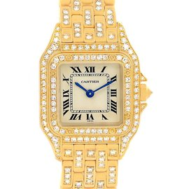 Cartier Panthere WF3072B9 18K Yellow Gold Diamonds 22mm Womens Watch