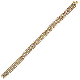 Cartier Maillon Panthere 18K Yellow Gold 2.69ctw Diamond Bracelet