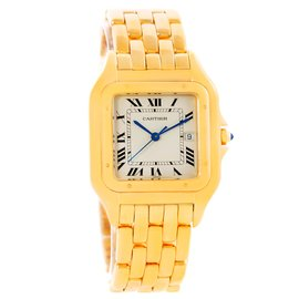 Cartier Panthere W25014B9 18K Yellow Gold 29mm Mens Watch