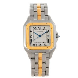Cartier Panthere Stainless Steel 18K Yellow Gold One Row 29mm Watch