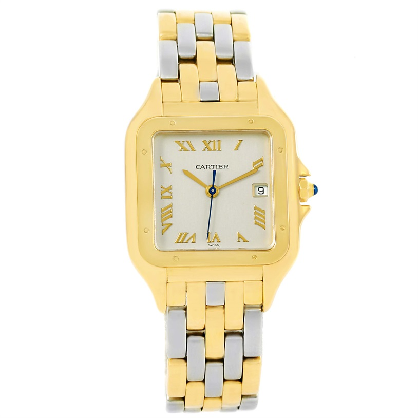 "Image of ""Cartier Panthere Stainless Steel 18K Yellow Gold 29mm Unisex Watch"""