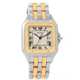 Cartier Panthere 187957 Jumbo Stainless Steel Yellow Gold 29mm Unisex Watch