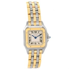 Cartier Panthere W25029B6 Stainless Steel & 18K Yellow Gold 22mm Womens Watch