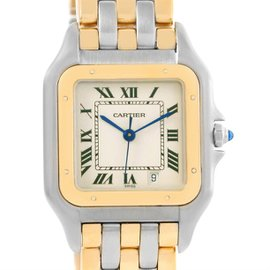 Cartier Panthere W25028B6 Stainless Steel & 18K Yellow Gold 26mm Womens Watch
