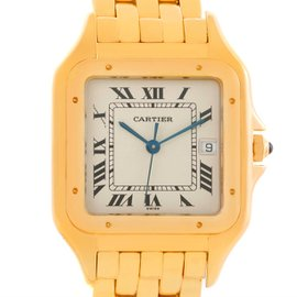Cartier Panthere W25014B9 18K Yellow Gold Quartz 29mm Unisex Watch